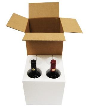 Caja para 4 botellas de vino o cava