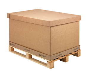 Contenedor de carton ondulado plegable