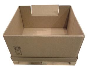 Contenedor de carton plegable con ventana