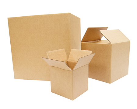 Cajas cuadradas de cartón ondulado