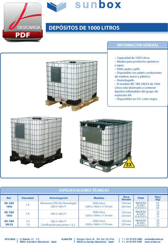Dep sitos de 1000 litros sunbox abc pack - Deposito 1000 litros ...