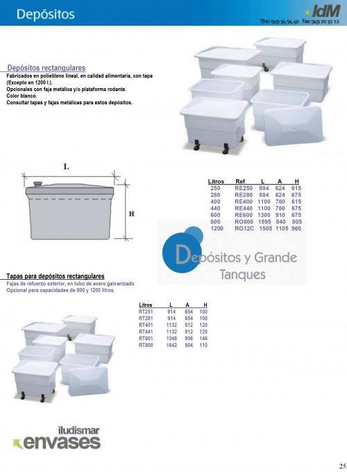 Dep sitos y grande tanques abc pack - Depositos de agua rectangulares ...
