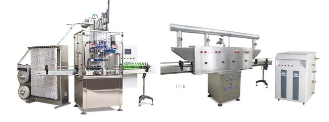 Linea-aplicadora-de-sleeves-con-tunel-de-vapor