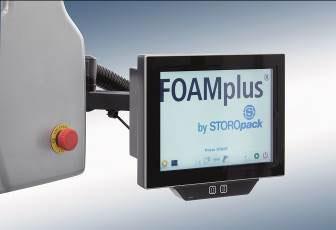 La máquina está equipada con una nueva pantalla de 10 pulgadas, que presenta un gran número de funciones adicionales. El software en el que se basa la máquina ha sido desarrollado por Storopack.