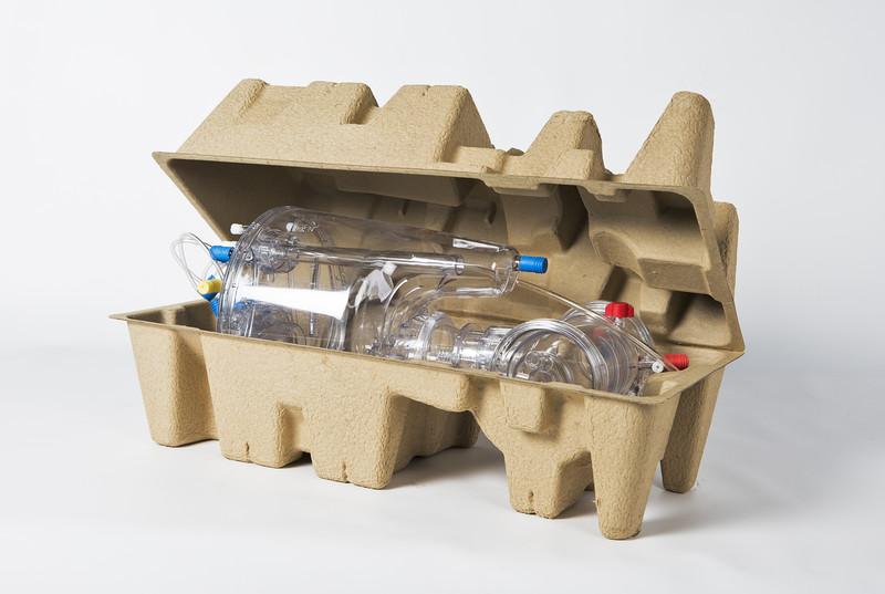 Embalaje de protección a base de celulosa moldeada
