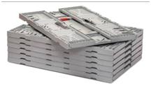 La altura de la caja Twistlock Box plegada es de 28 milímetros. Contribuye a una considerable reducción de los costes y las emisiones de CO2.