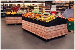 Sobre la superficie del marco superior de la IPM se pueden colocar bandejas para la presentación de diferentes productos.