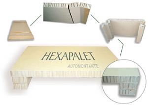 Hexapalet Palet nido de abeja Automontante