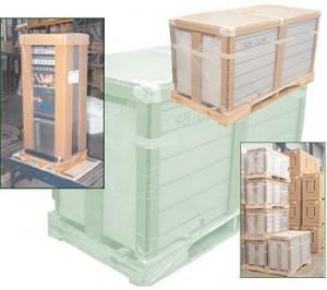 Hexapanel Panel de nido de abeja Protección, detalle de mercancía embalada