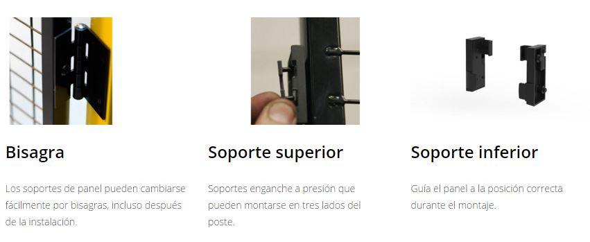 Protección maquinaria X-GUARD Complementos bisagra y soportes