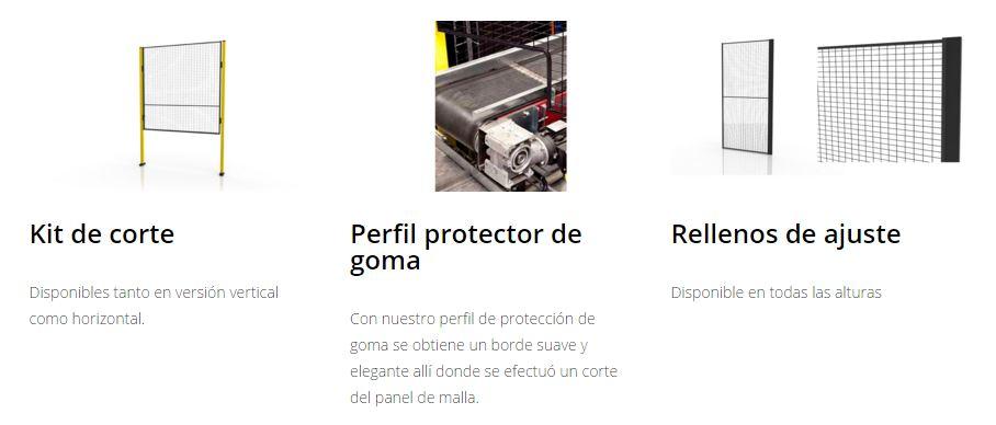 Protección maquinaria X-GUARD Complementos perfiles y rellenos