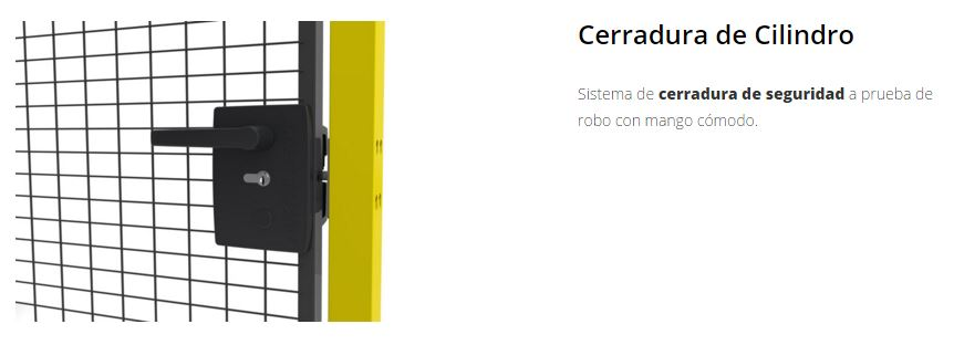 Protección de maquimaria X-GUARD Cerraduras cilindro