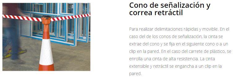 Seguridad X-SECURE Marcaje de seguridad cono+correa