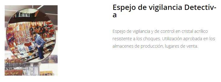 Seguridad X-SECURE Espejos vigilancia detectiva