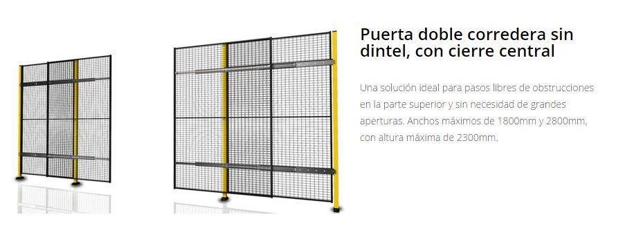 Protección de maquinaria puertas doble sin dintel