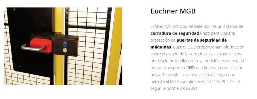 Protección de maquimaria X-GUARD Cerraduras euchner MGB