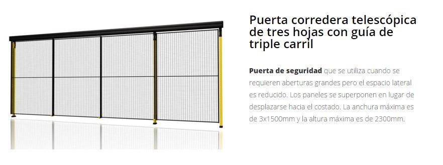 Protección de maquinaria X-GUARD puertas telescopica 3 hojas