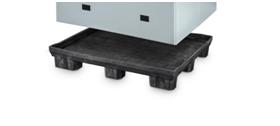 Sobre su cubierta completamente cerrada se pueden colocar diferentes mercancías o elementos separadores con la máxima higiene.  Este sistema permite prescindir por completo de los costosos depósitos para el suelo.