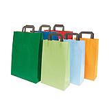 Bolsas con asas de papel y plastico