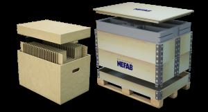 cajas de carton y cajas de madera para envio embalaje personalizado nefab