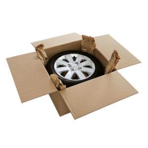 Caja de cartón para pneumáticos