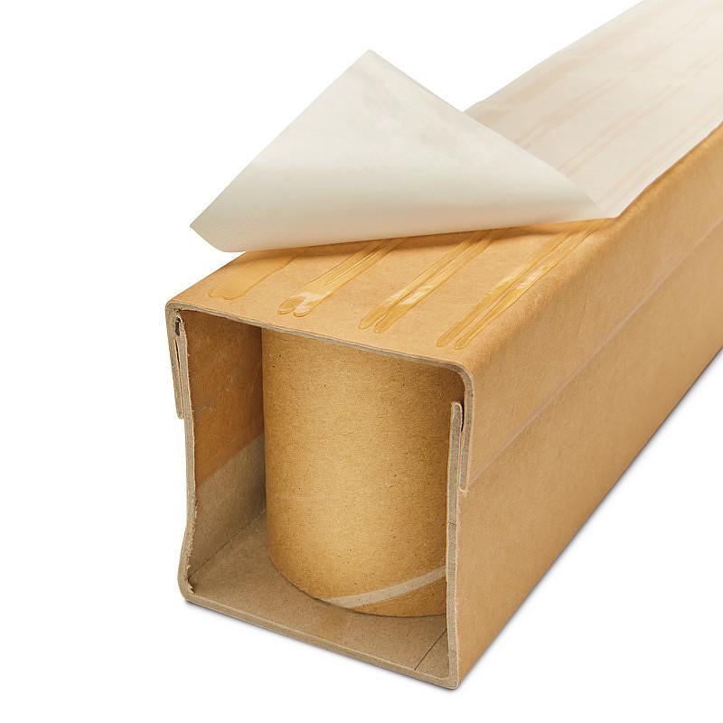 Patines de cartón compacto, adhesivos