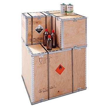 Caja de madera para mercancías peligrosas