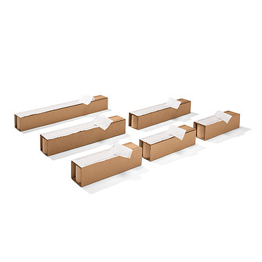 Patines de cartón corrugado, adhesivos