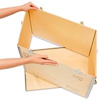Cajas con patines para transporte facil