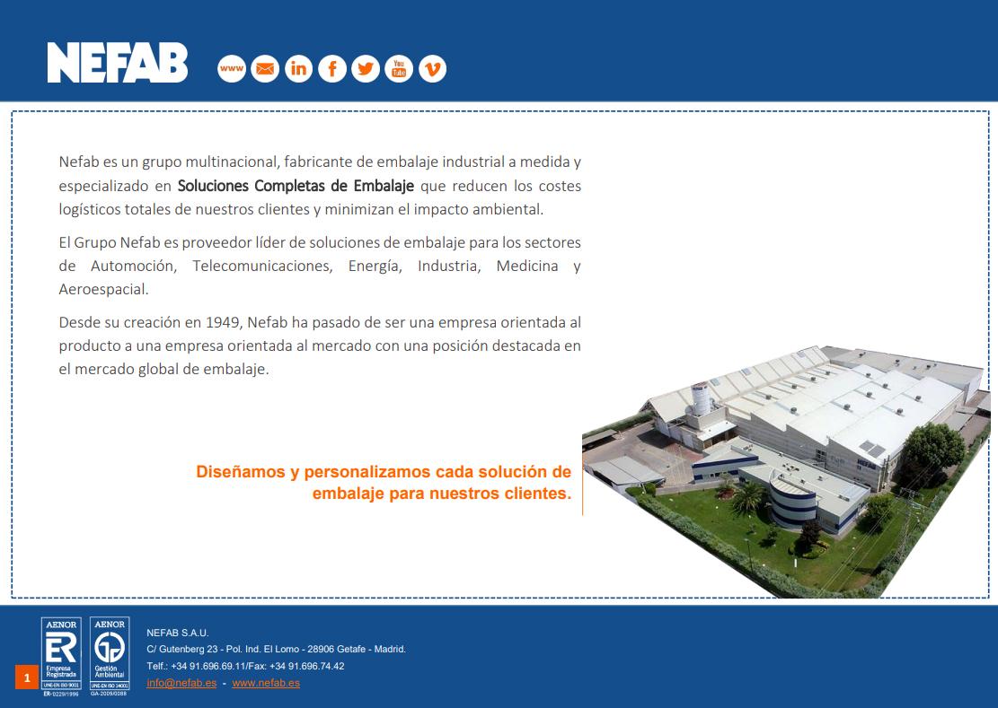 catálogo de embalajes Nefab
