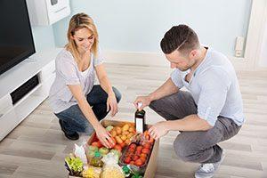 Embalaje de productos frescos para la venta online