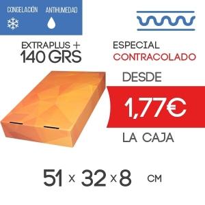 Tapa para Caja de Almacenaje Contracolado Naranja + Acabado Mate 51x32x8cm