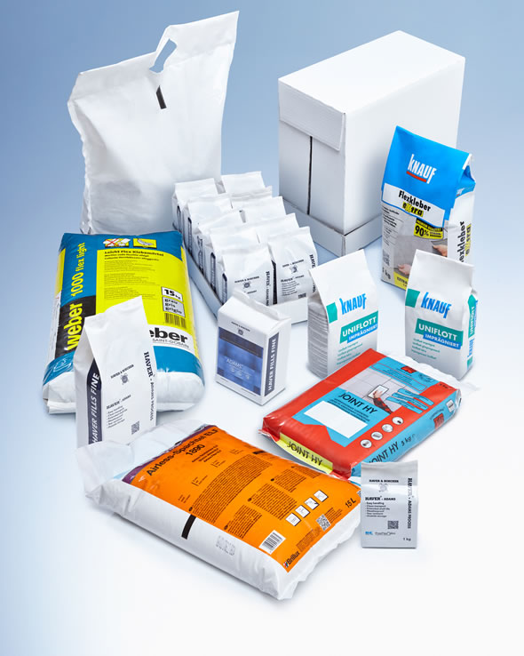WATERPROOF. CLEAN. PROFITABLE. different bags filled with the ADAMS Technology