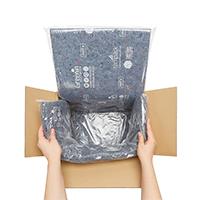 Contenedor térmico para envíos con pieza de algodón
