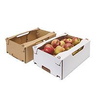 caja de verduras y frutas, alta