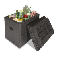 Caja aislante con mantenimiento fiable de la temperatura