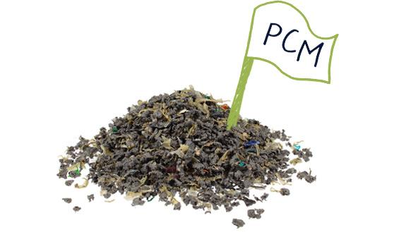 Mezcla de residuos plásticos del consumo