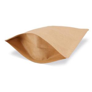 bolsa con fondo rijido con cierre a presión aglomerado