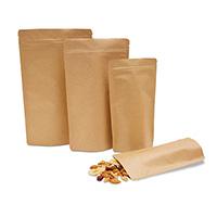 bolsa con fondo rijido con cierre a presión, aglomerado de papel