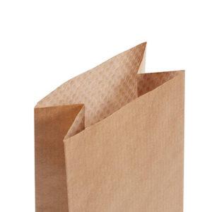 bolsa de fondo plano se papel con visor