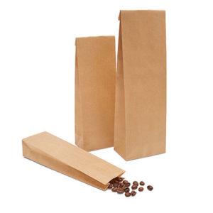 bolsa con fondo plano de papel