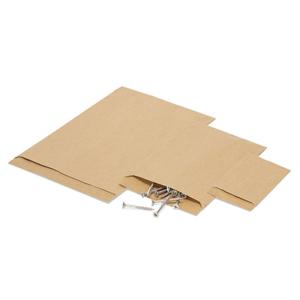 bolsa plana, papel de estraza
