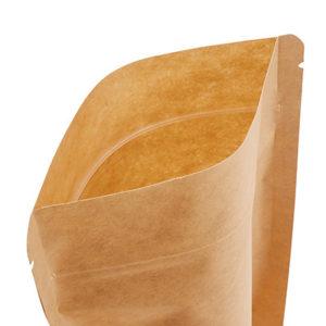 bolsa de fondo rijido con visor y cierre a presión