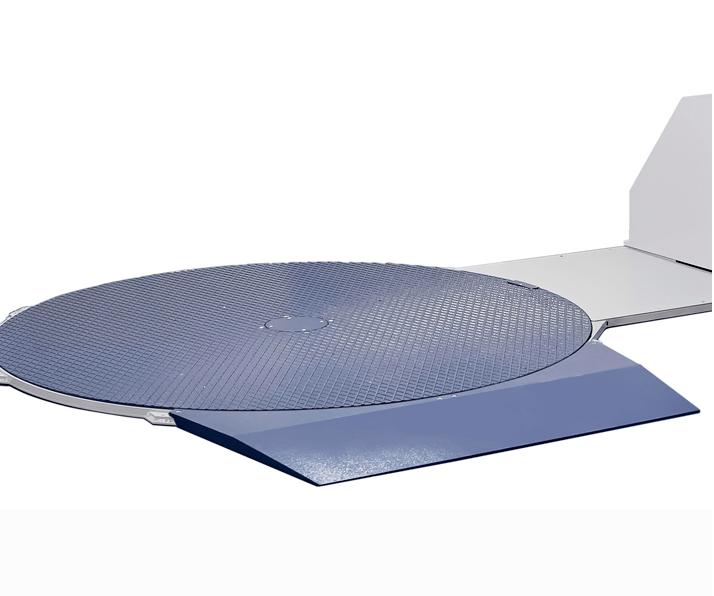 Plataforma de baja altura compatible con con la gama Masterplat y Rotoplat