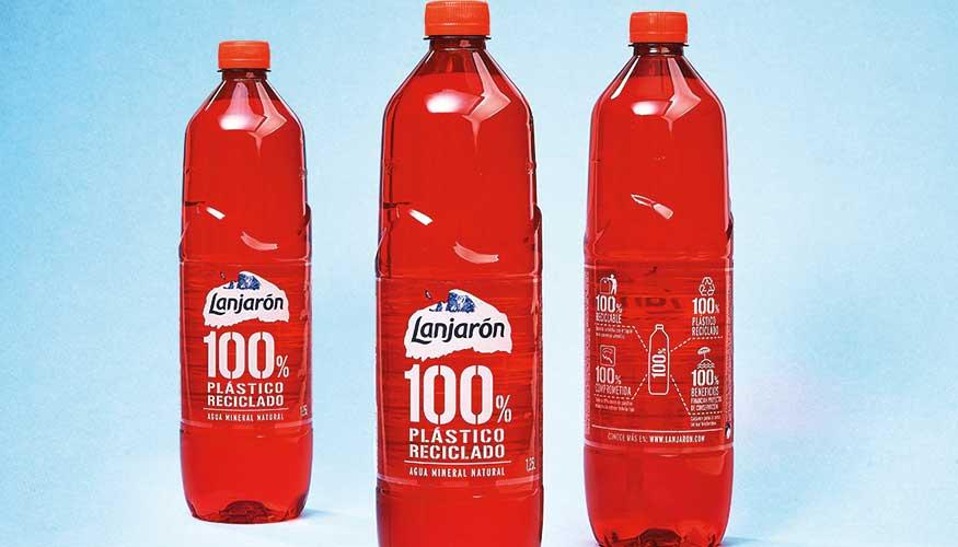 Botella roja 100% reciclable
