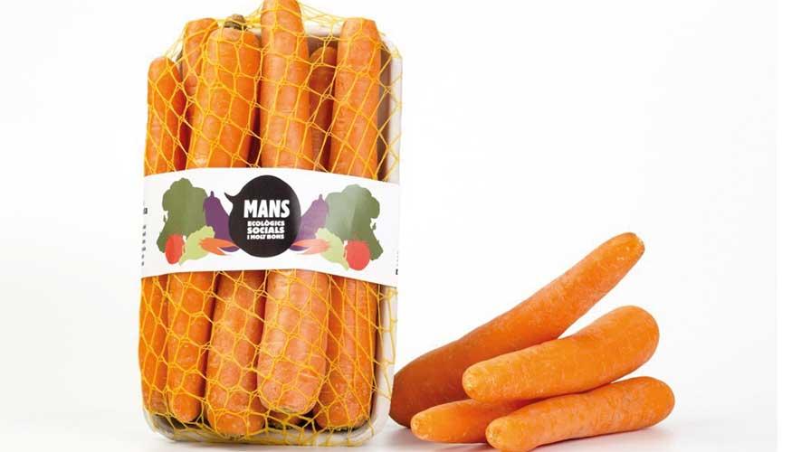 Envase Mans para la comercialización de fruta y verdura ecológica.