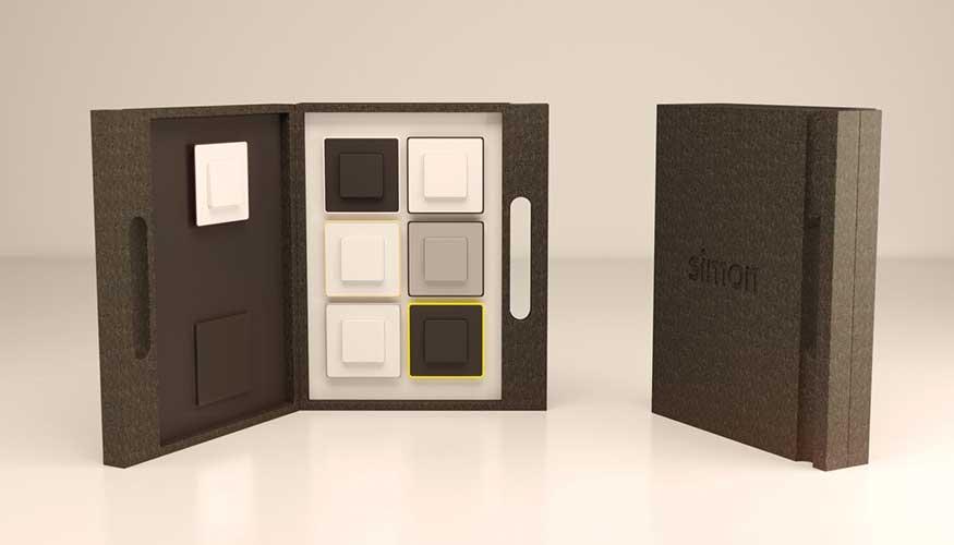 Packaging Demo Simon, realizado únicamente en EPP para reforzar la imagen de las piezas que contiene.