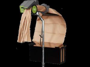 dispositivo de relleno con papel