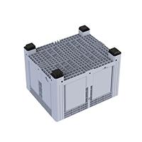 Contenedor rígido cerrado de 4 pies y gran volumen Contenedor o Pallet Box rígido de medidas 1200x1000mm con 4 pies y una capacidad de 676 litros.