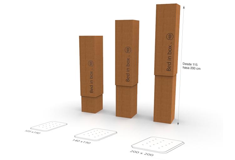 embalaje para colchones bed in box
